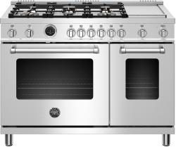 Brand: Bertazzoni, Model: MAST486GDFS, Color: Stainless Steel, Natural Gas