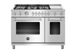 Brand: Bertazzoni, Model: MAST486GGASBIE, Color: Stainless Steel - Liquid Propane