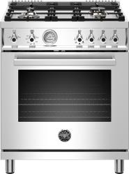 Brand: Bertazzoni, Model: PROF304GASGITLP, Color: Stainless Steel, Natural Gas
