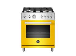 Brand: Bertazzoni, Model: PROF304GASGITLP, Color: Yellow, Natural Gas