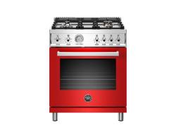 Brand: Bertazzoni, Model: PROF304GASGITLP, Color: Red, Natural Gas