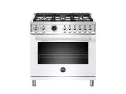 Brand: Bertazzoni, Model: PROF366DFSXTLP, Color: White, Natural Gas