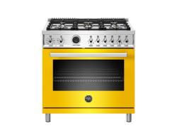 Brand: Bertazzoni, Model: PROF366DFSBIT, Color: Yellow, Natural Gas