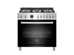 Brand: Bertazzoni, Model: PROF366DFSXTLP, Color: Black, Natural Gas