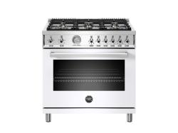 Brand: Bertazzoni, Model: PROF366GASNET, Color: White, Natural Gas