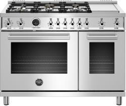 Brand: Bertazzoni, Model: PROF486GDFSROT, Color: Stainless Steel, Natural Gas