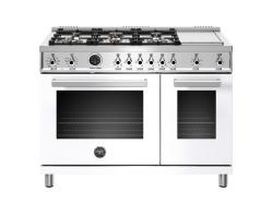 Brand: Bertazzoni, Model: PROF486GDFSROT, Color: White, Natural Gas