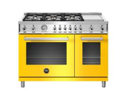 Brand: Bertazzoni, Model: , Color: Yellow, Natural Gas