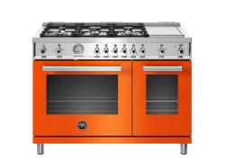 Brand: Bertazzoni, Model: PROF486GGASXTLP, Color: Orange, Natural Gas