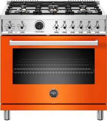 Brand: Bertazzoni, Model: PROF366DFSBIT, Color: Orange, Natural Gas