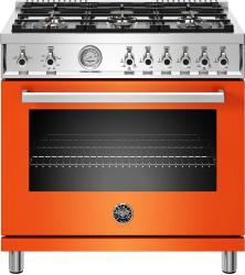 Brand: Bertazzoni, Model: PROF366GASGIT, Color: Orange, Natural Gas