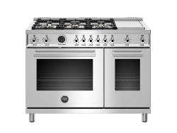 Brand: Bertazzoni, Model: PROF486GDFSROT, Color: Stainless Steel, Liquid Propane