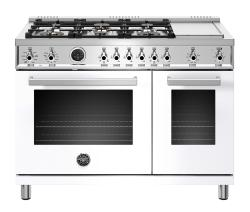 Brand: Bertazzoni, Model: PROF486GDFSNETLP, Color: White, Liquid Propane