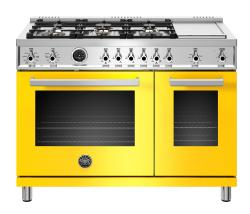 Brand: Bertazzoni, Model: PROF486GDFSROT, Color: Yellow, Liquid Propane