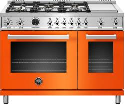Brand: Bertazzoni, Model: PROF486GDFSNETLP, Color: Orange, Liquid Propane