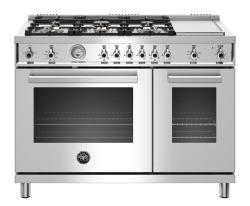 Brand: Bertazzoni, Model: PROF486GGASXTLP, Color: Stainless Steel, Liquid Propane