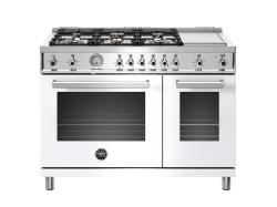Brand: Bertazzoni, Model: PROF486GGASBIT, Color: White, Liquid Propane
