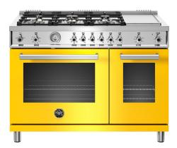 Brand: Bertazzoni, Model: , Color: Yellow, Liquid Propane
