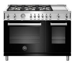 Brand: Bertazzoni, Model: PROF486GGASBIT, Color: Black, Liquid Propane