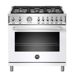 Brand: Bertazzoni, Model: PROF366GASNET, Color: White, Liquid Propane