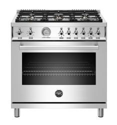 Brand: Bertazzoni, Model: PROF366GASNET, Color: Stainless Steel, Liquid Propane