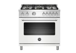 Brand: Bertazzoni, Model: MAST365GASBIE, Color: White, Natural Gas