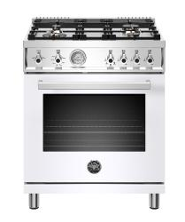 Brand: Bertazzoni, Model: PROF304GASROT, Color: White, Liquid Propane