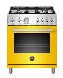 Brand: Bertazzoni, Model: PROF304GASGITLP, Color: Yellow, Liquid Propane