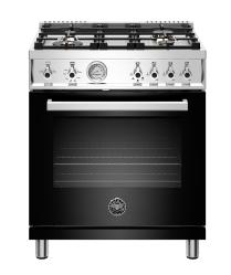 Brand: Bertazzoni, Model: PROF304GASROT, Color: Black, Liquid Propane