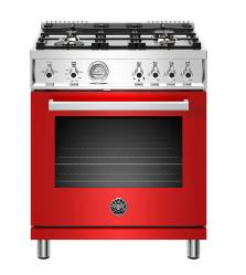 Brand: Bertazzoni, Model: PROF304GASROT, Color: Red, Liquid Propane