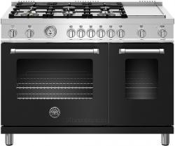 Brand: Bertazzoni, Model: MAST486GGASXE, Color: Matte Black, Natural Gas