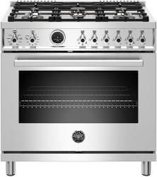 Brand: Bertazzoni, Model: PROF366DFSXTLP, Color: Stainless Steel, Natural Gas