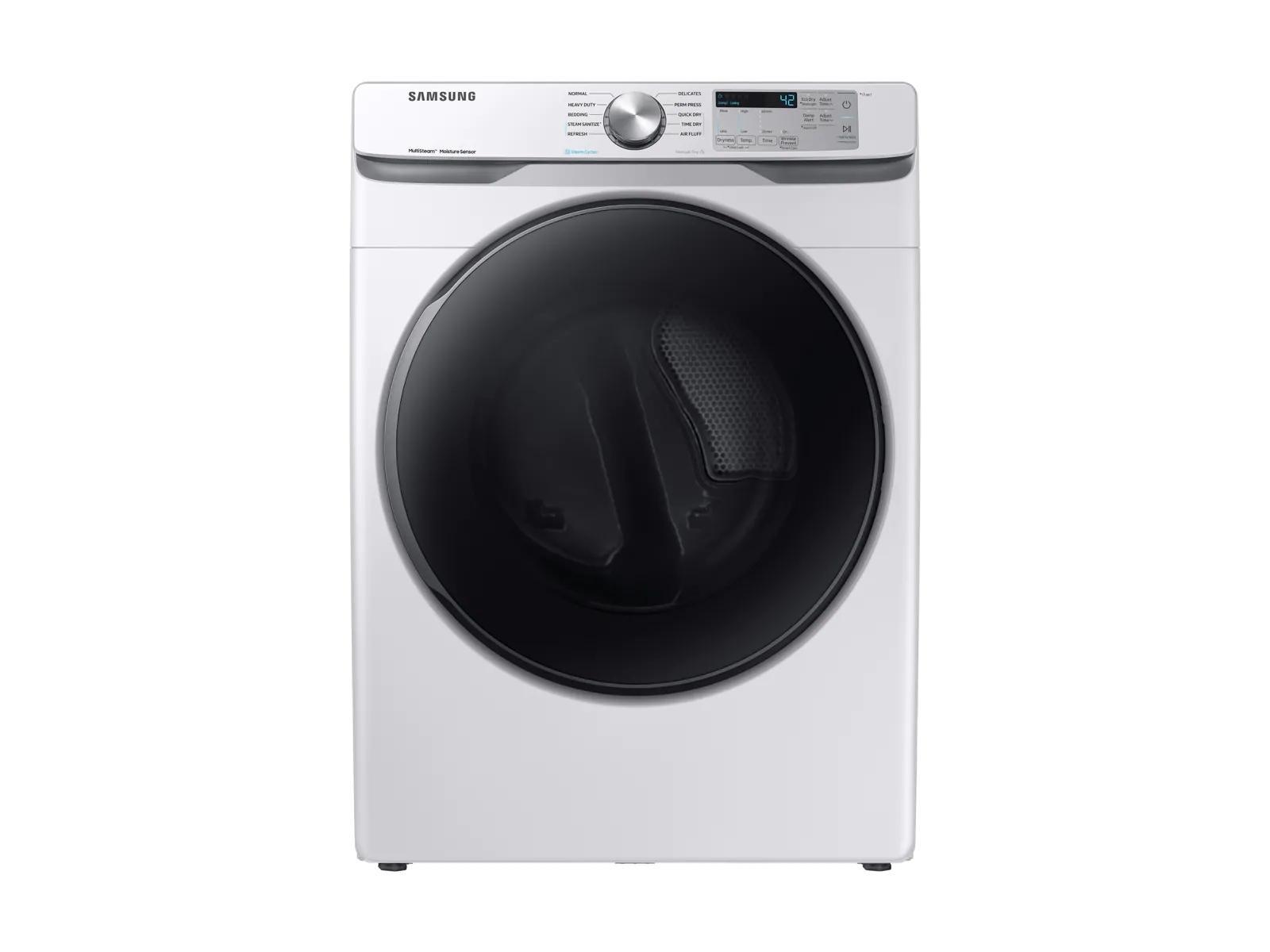 Samsung Dvg45r6100w Dv6100 7 5 Cu Ft Gas Dryer With Steam Sanitize White