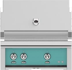 Brand: Hestan, Model: GABR30LPBK, Color: Natural Gas, Bora Bora Turquoise