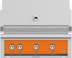 Brand: Hestan, Model: GABR36NGBU, Color: Liquid Propane, Citra Orange