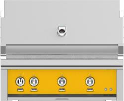 Brand: Hestan, Model: GABR36NGBU, Color: Natural Gas, Sol Yellow