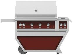 Brand: Hestan, Model: GABR42CX2LPWH, Color: Liquid Propane, Tin Roof Burgundy