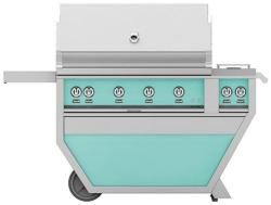 Brand: Hestan, Model: GABR42CX2NGBG, Color: Natural Gas, Bora Bora Turquoise