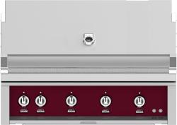 Brand: Hestan, Model: GABR42LPYW, Color: Natural Gas, Tin Roof Burgundy