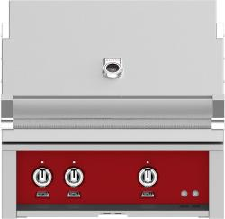 Brand: Hestan, Model: GMBR30NGBG, Color: Liquid Propane, Matador Red