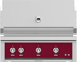 Brand: Hestan, Model: GMBR36LPRD, Color: Liquid Propane, Tin Roof Burgundy