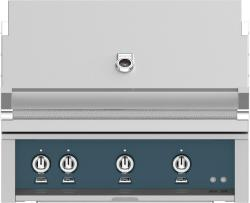 Brand: Hestan, Model: GMBR36LPRD, Color: Liquid Propane, Pacific Fog Grey