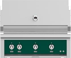 Brand: Hestan, Model: GMBR36LPRD, Color: Liquid Propane, Grove Green