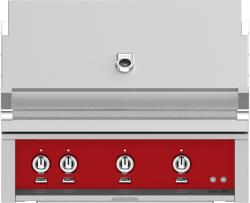 Brand: Hestan, Model: GMBR36NGTQ, Color: Liquid Propane, Matador Red