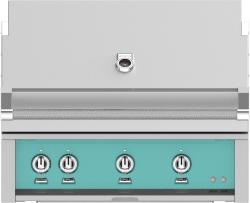 Brand: Hestan, Model: GMBR36NGTQ, Color: Natural Gas, Bora Bora Turquoise