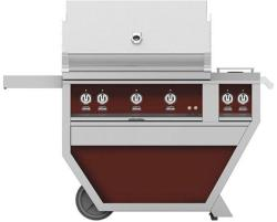 Brand: Hestan, Model: GSBR36CX2NGTQ, Color: Liquid Propane, Tin Roof Burgundy