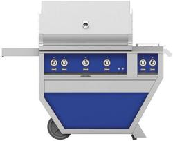 Brand: Hestan, Model: GSBR36CX2LPYW, Color: Liquid Propane, Prince Blue