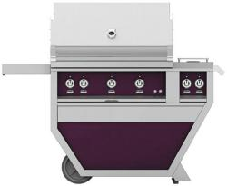 Brand: Hestan, Model: GSBR36CX2LPYW, Color: Liquid Propane, Lush Purple