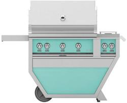 Brand: Hestan, Model: GSBR36CX2NGYW, Color: Natural Gas, Bora Bora Turquoise