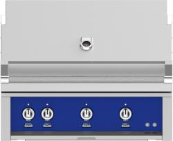 Brand: Hestan, Model: GSBR36LPTQ, Color: Liquid Propane, Prince Blue